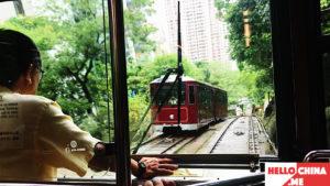 Трамвайчик Пик Виктория Гонконг фото